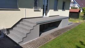 Treppe-Fertigstellung
