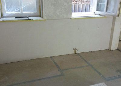 Salzbelastete Wand Instandsetzung