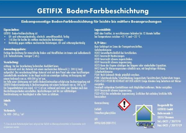 Getifix Boden-Farbbeschichtung