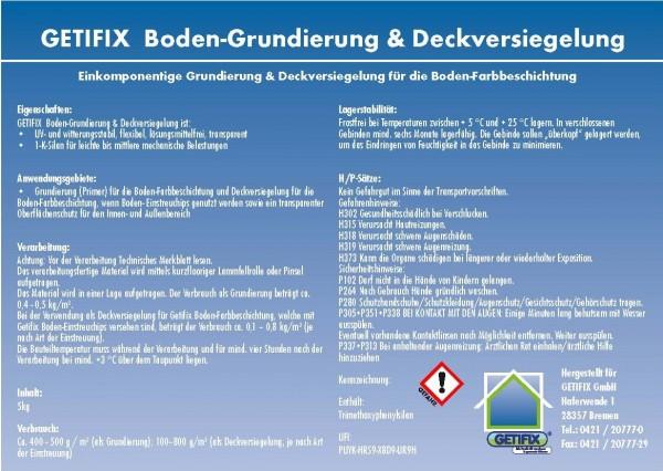 Getifix Boden-Grundierung & Deckversiegelung