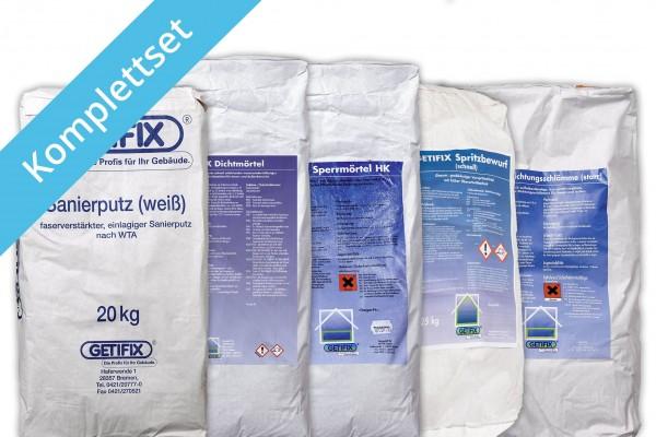 Getifix Innenabdichtung - Nässe und Salze - 10/15/20 m² - Komplettpaket