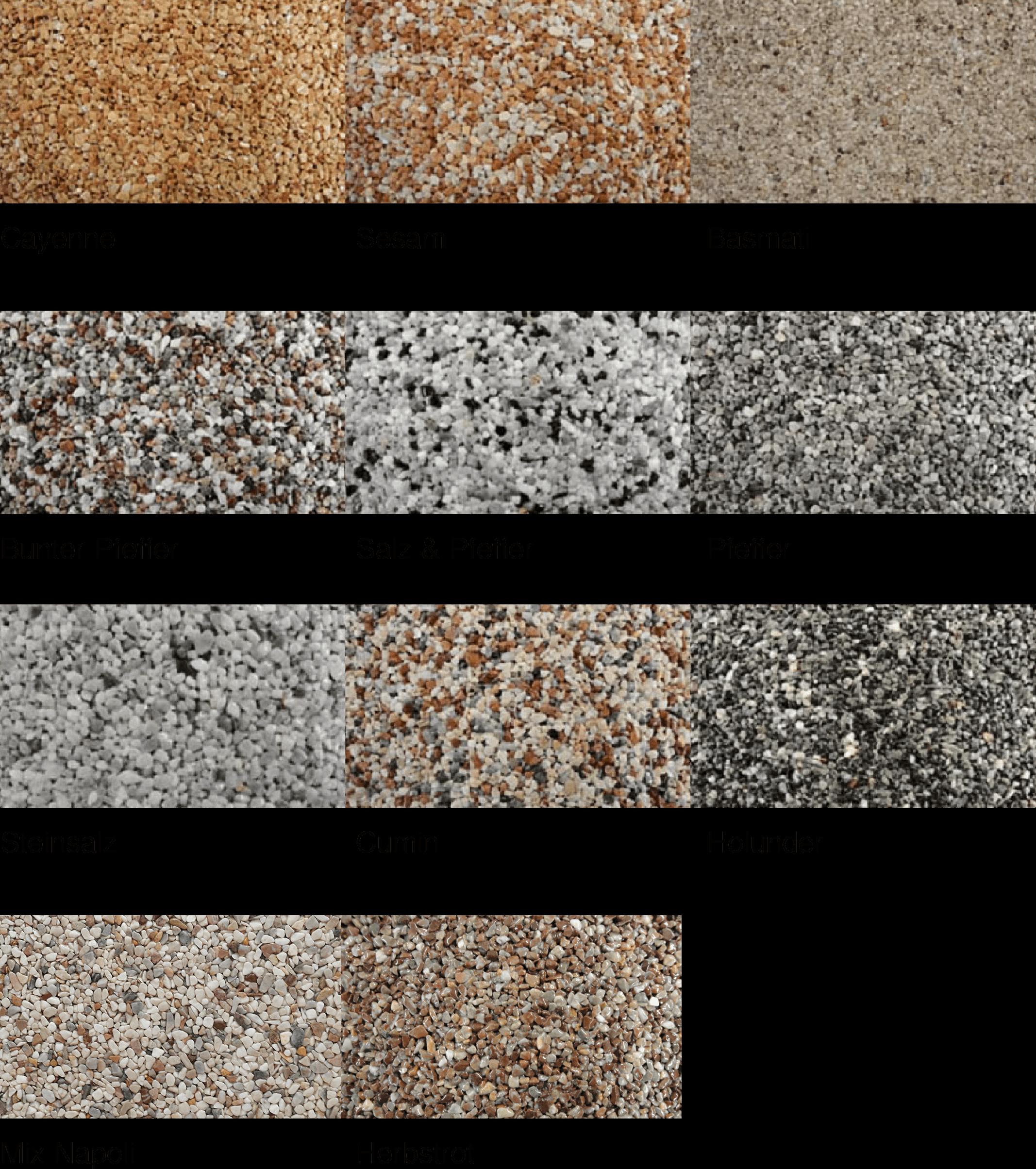 Plana Sockelelemente Farben