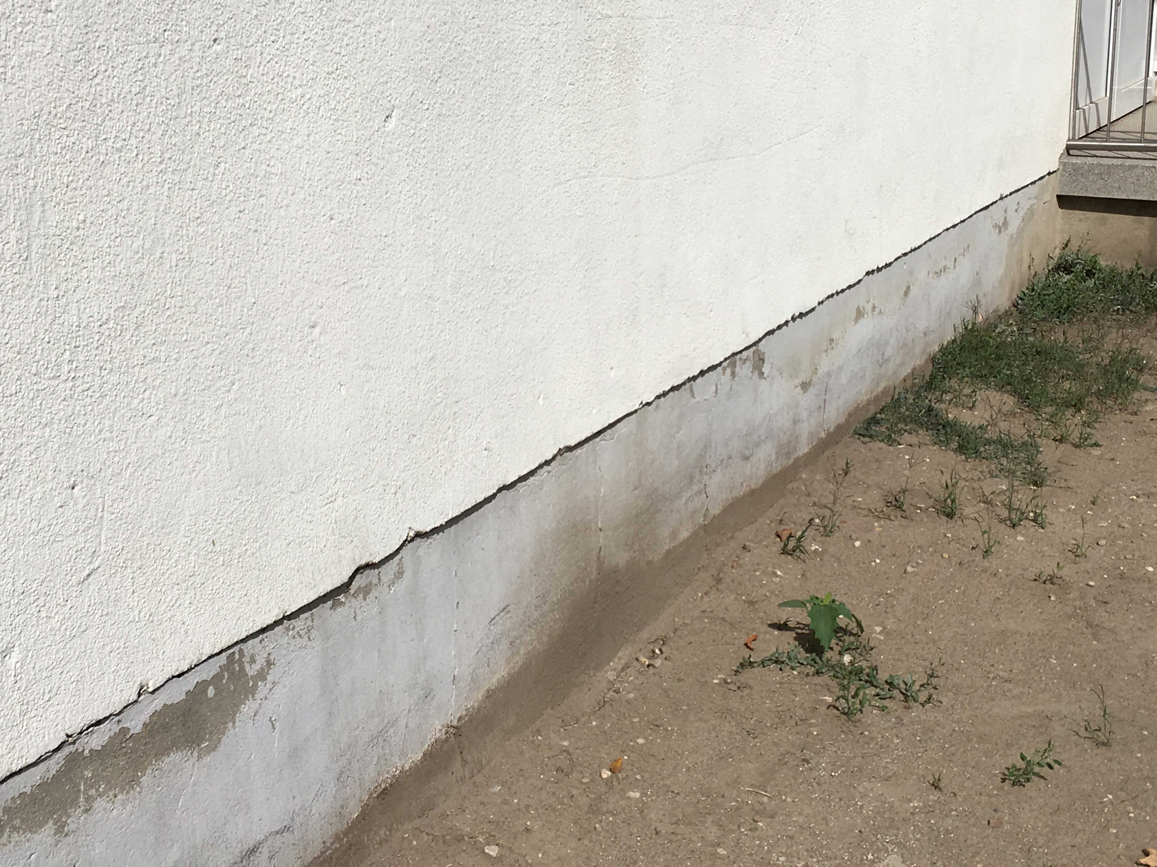 Sockelschaden Hauswand