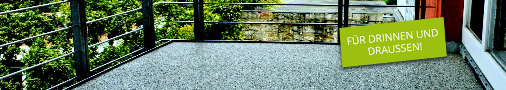 Steinteppich Balkonbodenbelag
