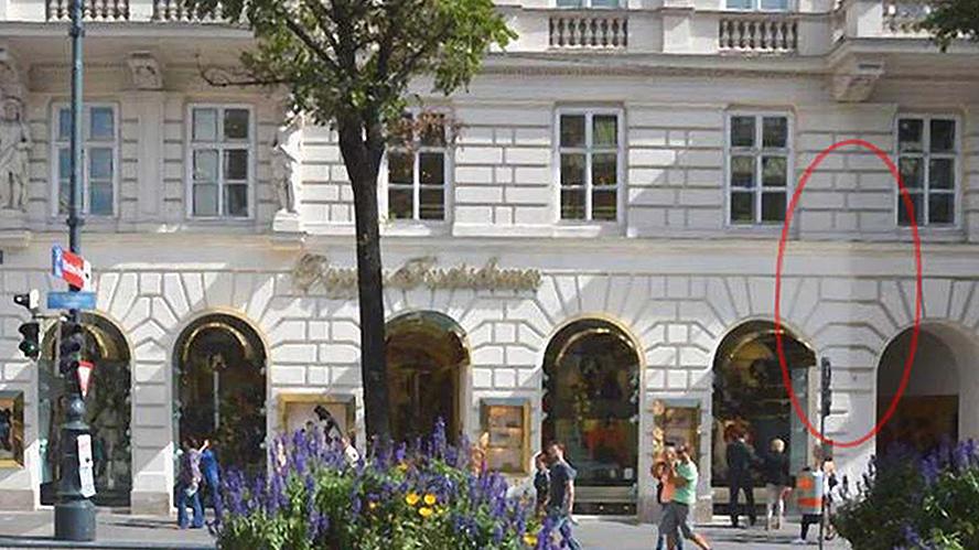 Wohn- und Geschäftshaus in Wien, beschichtet Mitte 2010