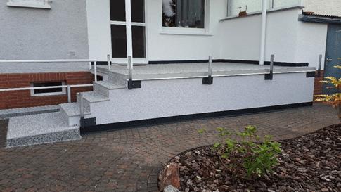 Balkon- und Terrassenabdichtung - Abdichtung mit Folie und Marmorgranulatplatten
