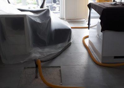 Wasserschaden-Wohnzimmer