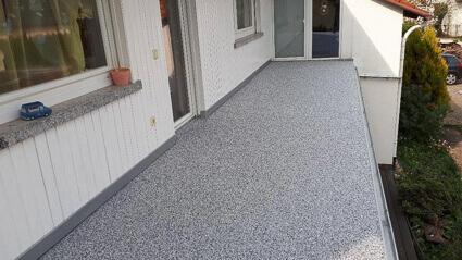 Balkonabdichtung Westerngrund - Abdichtung Marmorgranulatplatten