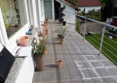 Balkonabdichtung Westerngrund - vorher