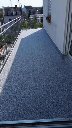 Balkonabdichtung Frankfurt - Abdichtung Marmorgranulatplatten
