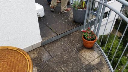 Balkonabdichtung Frankfurt - marode Werksteinplatten