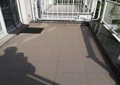 Balkonabdichtung Rodgau - vorher
