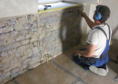 Salzbelastete Wand Instandsetzung Fugen schließen