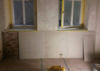 Salzbelastete Wand Instandsetzung mit Fovioplus