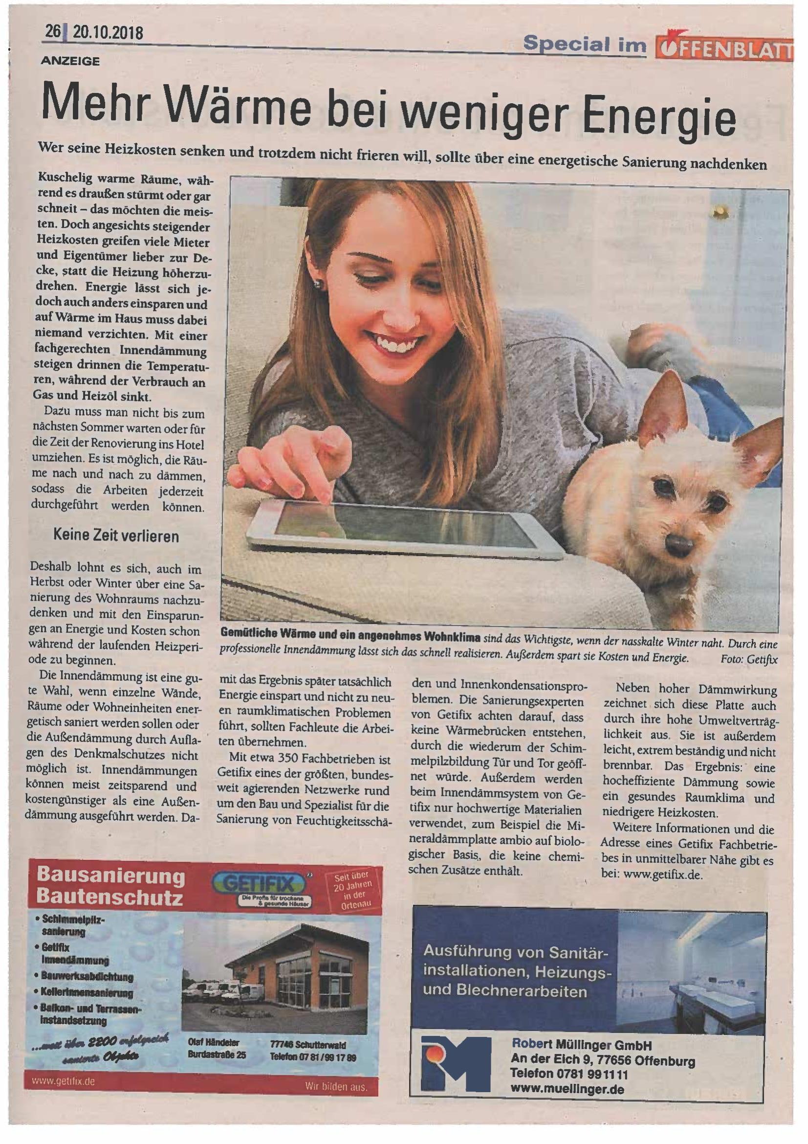 Offenblatt Oktober 2018