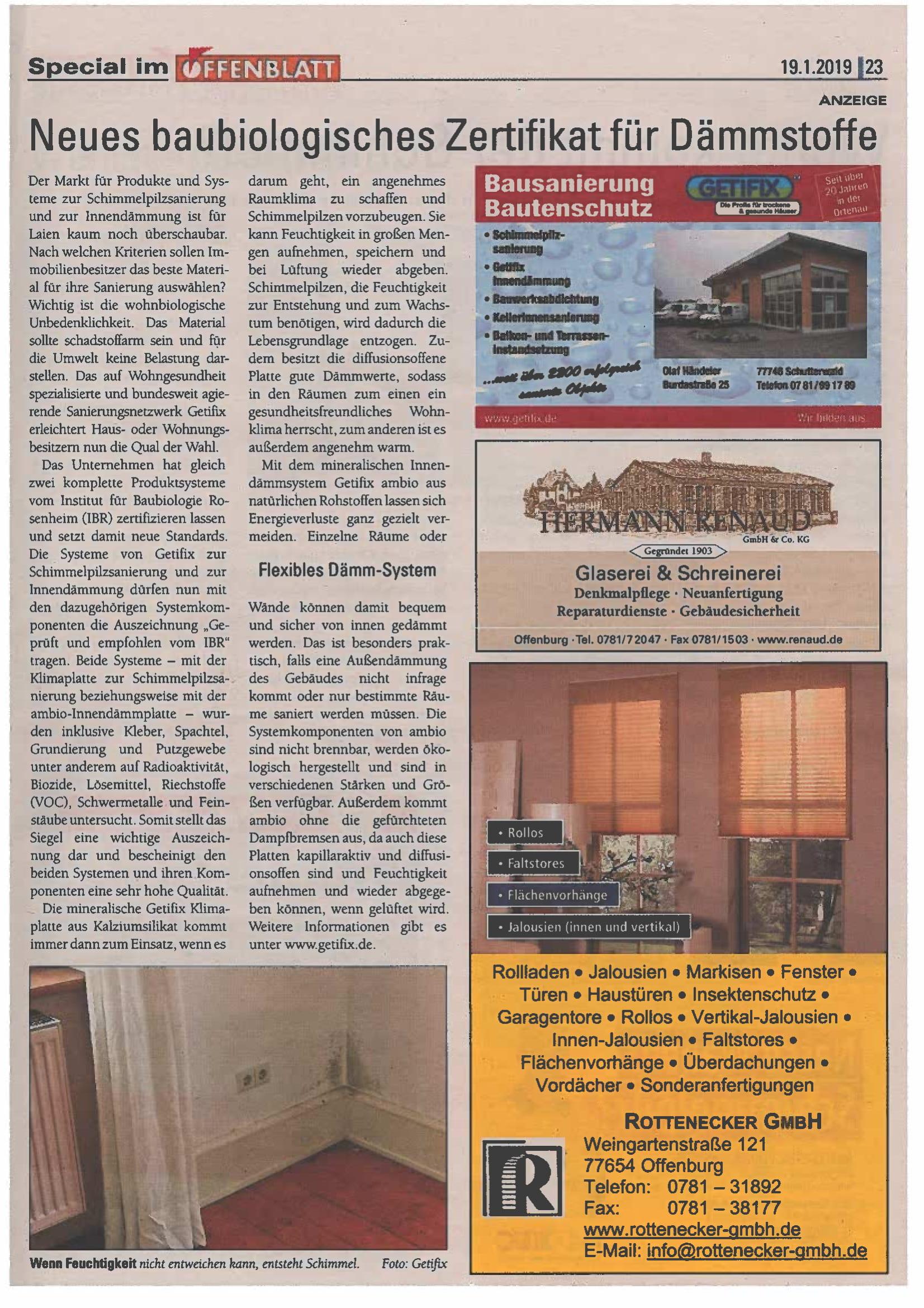 Offenblatt Januar 2018