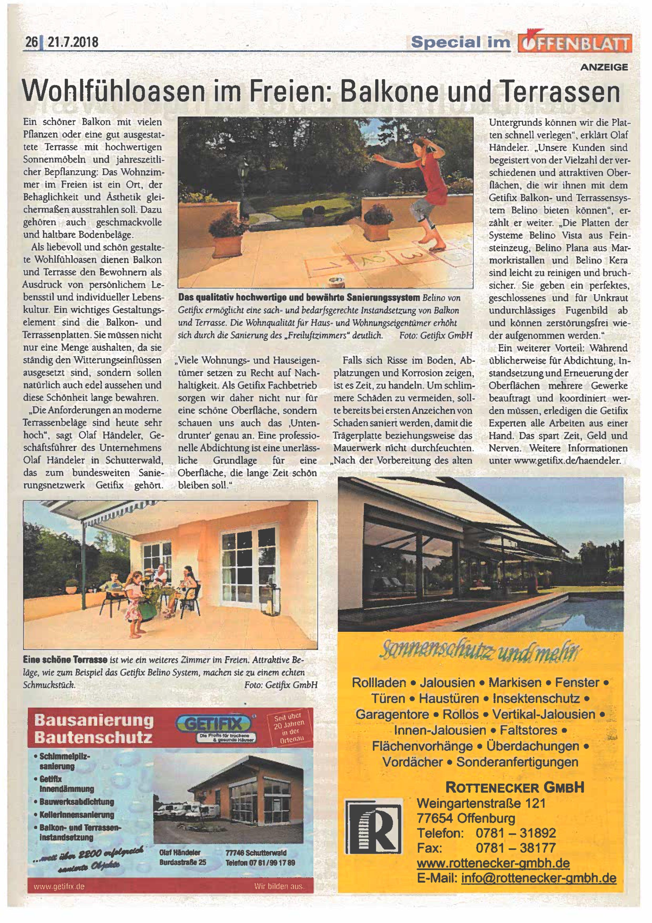 Offenblatt Juli 2018