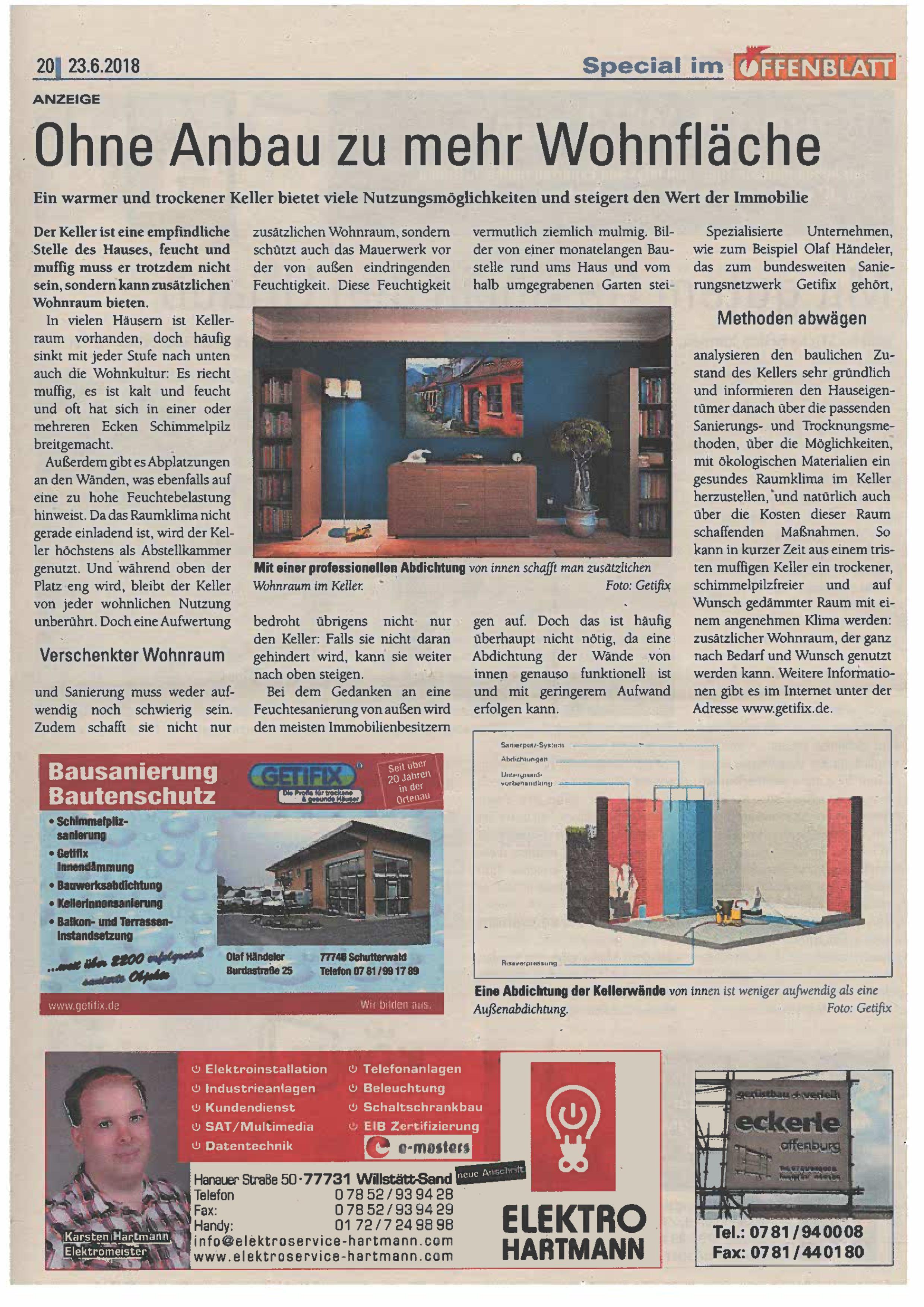 Offenblatt Juni 2018