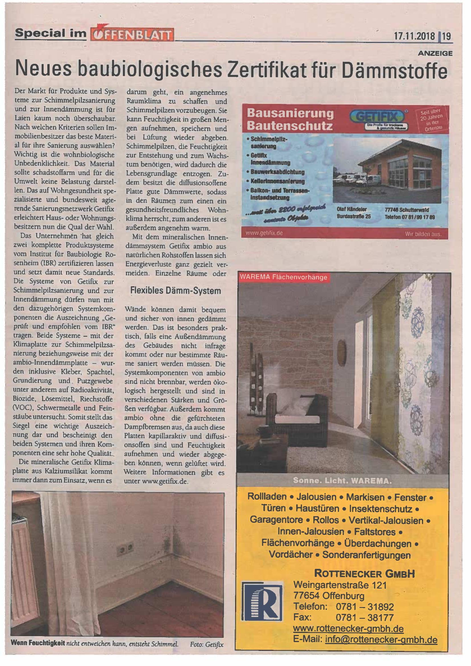 Offenblatt November 2018