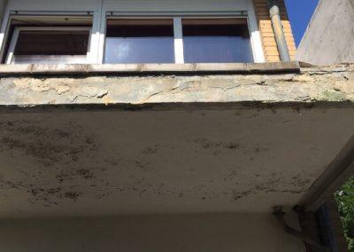 Balkoninstandsetzung - vorher