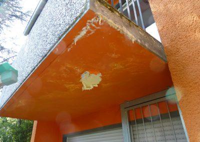 Balkon unten vorher