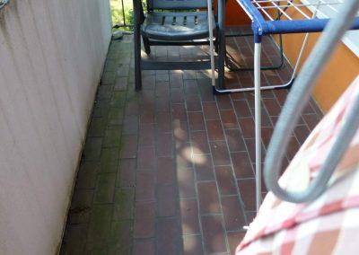 Balkon Fliesen vorher