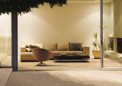 Balkonboden Ceramica mit Übergang in den Innenbereich