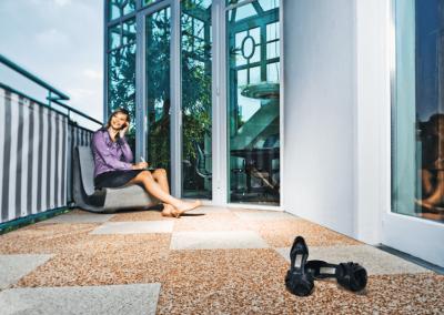 Balkonbodenbelg Plana Beispiel