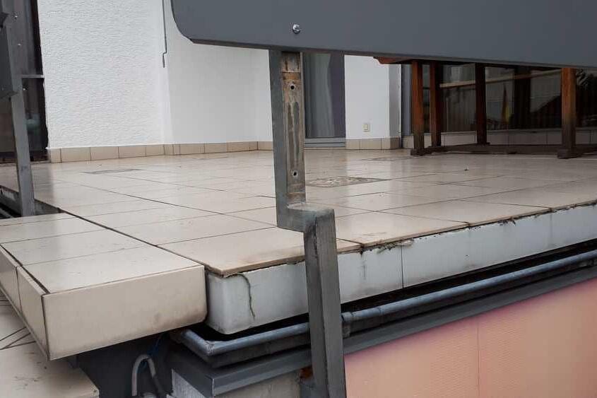 Schäden am Balkon