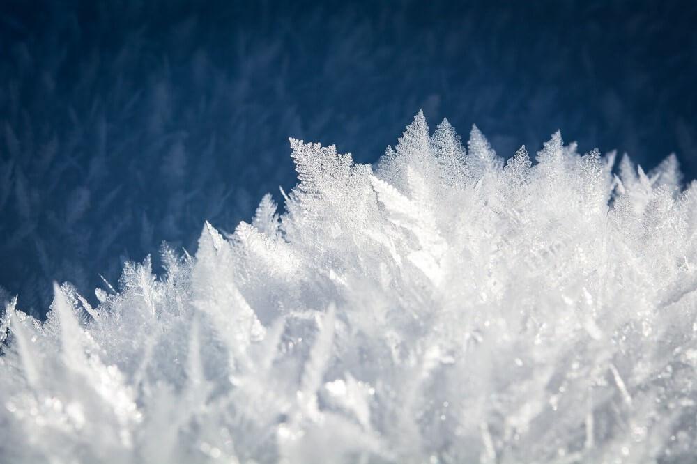 Eis Symbol für Winter